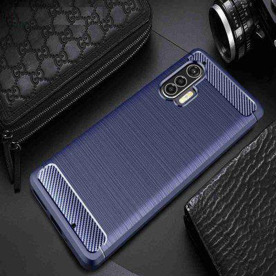 Solid Color Brushed Carbon Fiber Phone Case for Motorola Edge+