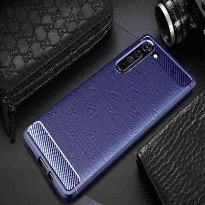 Solid Color Brushed Carbon Fiber Phone Case for Motorola Edge