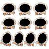 140108 Hollow Oval Small Blackboard Wedding Home Decoration (10 Pieces) - BURLYWOOD
