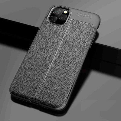 Leather texture Carbon Fiber Phone Case voor iPhone 11 Pro