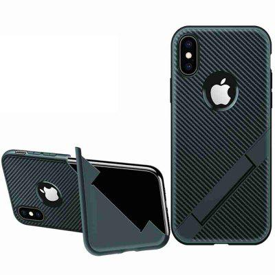 Bracket Carbon Fiber Extraordinary Phone Case for iPhone Xr