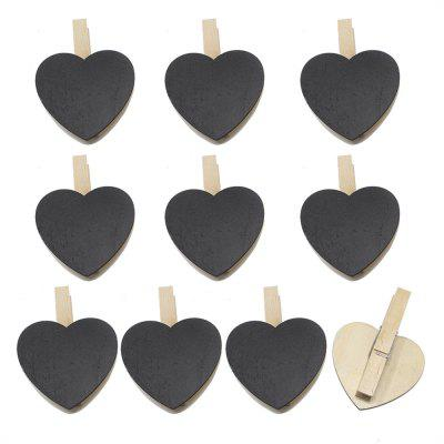 140.102 Heart Shaped Small Blackboard Clip Home Decoration Accessoires (100 Sets)