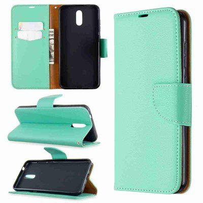 Litchi Pattern PU TPU Phone Case for Nokia 2.3