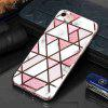 Electroplated Marble Process Phone Case for iPhone 6  / 6S - MULTI-D