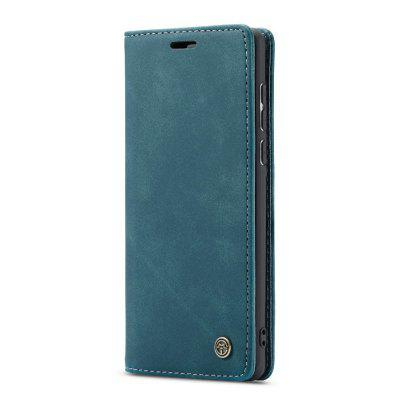 CaseMe Retro Leather Flip Phone Case TPU Soft Phone Cover for Samsung A71