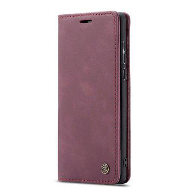 CaseMe Retro Leather Flip Phone Case TPU Soft Phone Cover Samsung A71