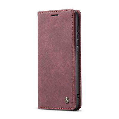 CaseMe Retro Leather Flip Phone Case TPU Soft Phone Cover for Samsung A51