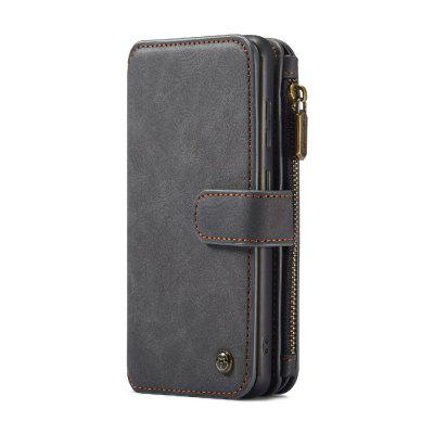 CaseMe Multifunctional 2 in 1 Zipper Wallet Split Leather Case for Samsung S20