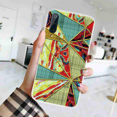 TPU Geometric Marble Painted Phone Case for  Xiaomi 9 Pro