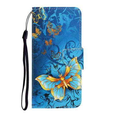 Cross Pattern Painting PU Phone Case for Samsung Galaxy S20