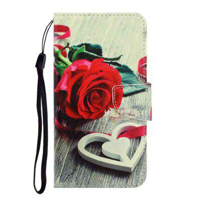 Cross Pattern Painting PU Phone Case for Samsung Galaxy A50 / A30S / A50S