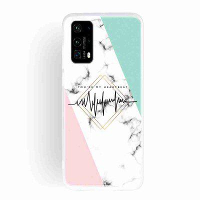 Frosted TPU Marble Painted Phone Case for Huawei P40 Pro