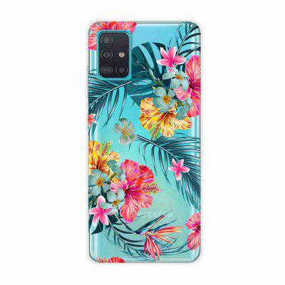 TPU Hollow Flower Painting Phone Case for Samsung Galaxy A51