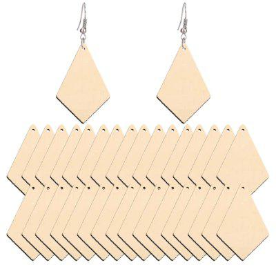 2020104 New Primary Color Wood Earrings and Earrings (50 Sets)