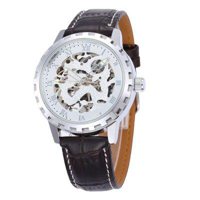 Shenhua 9560 Automatic Hollow Mechanical Watch Roman Numeric Men'S Watch