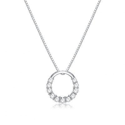 Sterling Silver Small O Necklace SVN175