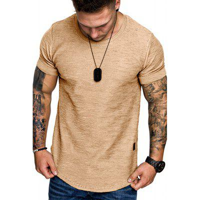 2020 Spring and Summer New Solid Color Round Neck Men'S Short Sleeve T-Shirt