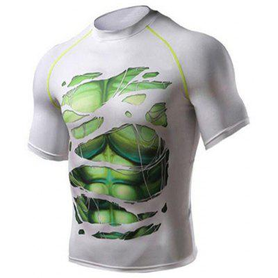 2020 New Trend Digital Print Hulk Men'S Short Sleeve T-Shirt