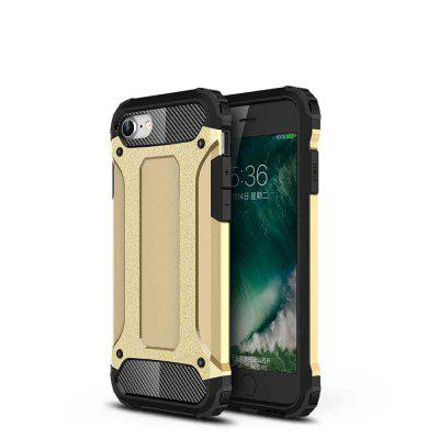PC+TPU Gold Steel Armor Phone Case for iPhone 7/8 /iPhone SE 2 (Nonporous)
