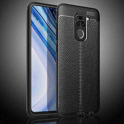 Leather Texture Carbon Fiber Phone Case for Xiaomi Redmi Note 9