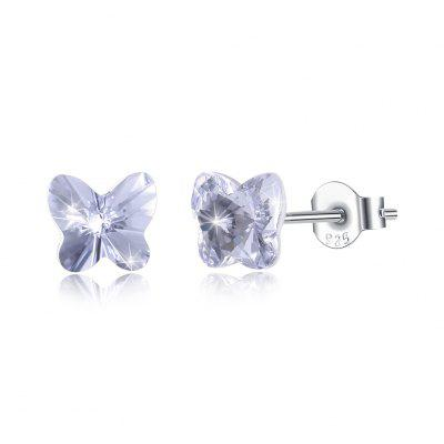 Butterfly Shaped Seven-Colour Stud S925 Sterling Silver Earrings SVE294