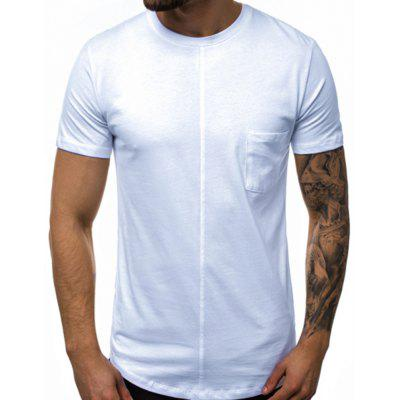 2020 New Solid Color Round Neck Men'S Short Sleeve T-Shirt