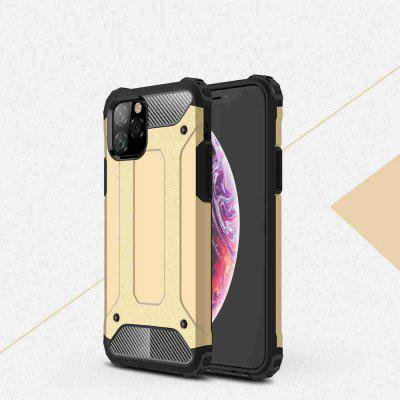 PC+TPU Gold Steel Armor Phone Case for iPhone 11 Pro