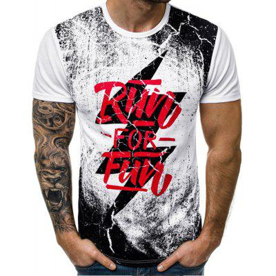 New Men'S Casual Printed Short-Sleeved T-Shirt