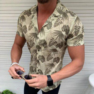 Men'S Personalized 3D Printed Short-Sleeved Shirt