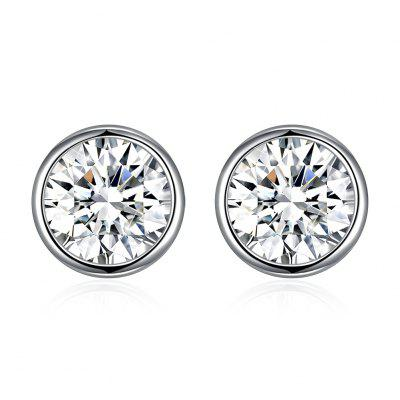 925 Sterling Silver Round Stud