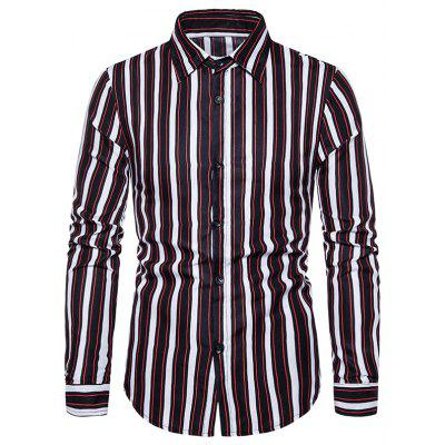 2020 New Men'S Casual Striped Shirt