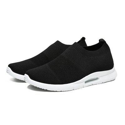 Flying Woven Sneakers for Men Non-Slip Sports Shoes Lazy Overshoes