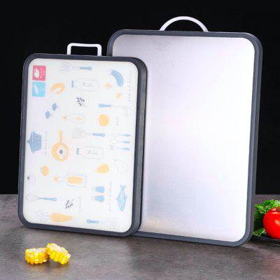 Multifunctional Double-Sided Cutting Board 304 Stainless Steel Grade PP Material