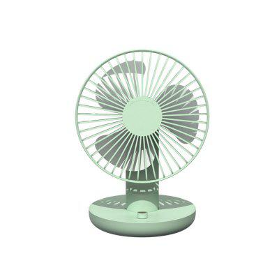 Mini Fan 120 Degree Rotation Strong Wind Low Noise Dual Battery USB Rechargeable