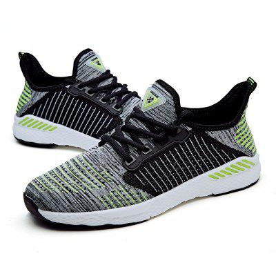 Men'S Casual Sports Shoes Breathable Couple Shoes Flying Woven Shoes