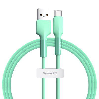 Baseus Silicone Type USB C Quick Charge 3.0 kábel pre Huawei P40 Samsung S20 S10