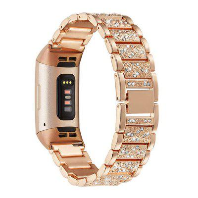 Watch Band for Fitbit Charge4 Jewelry Design Set Auger Wrist Strap