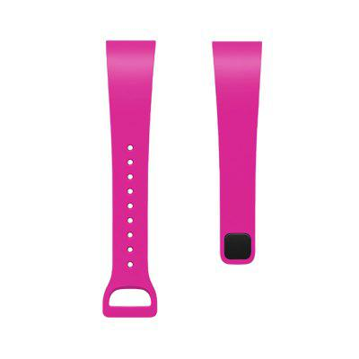 Soft Silicone Wrist Straps for Xiaomi Band Redmi Bracelet Band -  Rose Red