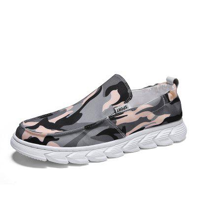 Men'S Shoes Camouflage Canvas Shoe Cover Foot Casual Shoes