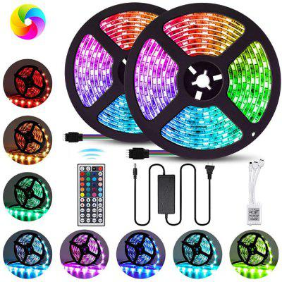 12V 6A 5050 2X5m 600 Lamp RGB Waterdicht Lamp Met 44 toetsen 1 Out 2 Controllers