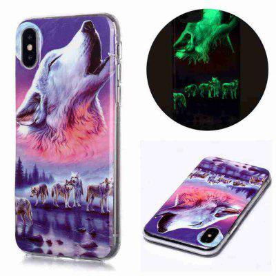Luminous Painted Upscale TPU Phone Case voor iPhone X / XS