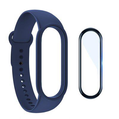 Silicone Watchband + Screen Protector Film for Xiaomi Mi Band 5