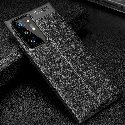 Leather Texture Carbon Fiber Phone Case for Samsung Galaxy Note 20 Ultra