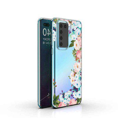 TPU Hollow Flower Painting Phone Case for Huawei P40