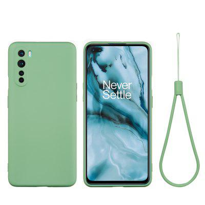 Liquid Silicone Soft Phone Shell with Strap for OnePlus Nord