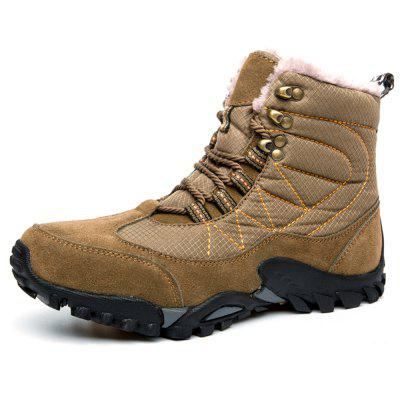 Winter Outdoor Waterproof Non-Slip Plus Velvet Warm Snow Boots Cotton Boots Men