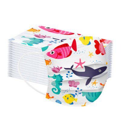 Disposable Ocean Printed Air Layer Fabric Face Mask