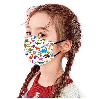 Dinosaur Printing Printed Air Layer Fabric Face Mask