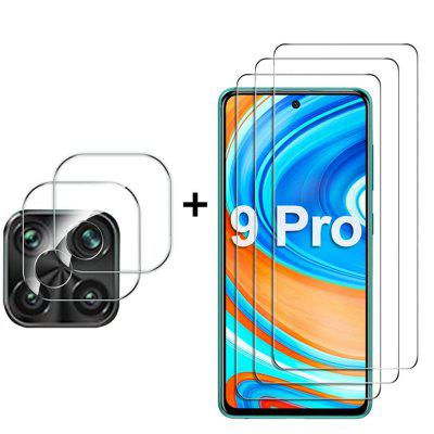 2pcs x Tempered Glass Film + Camera Protectors for Xiaomi Redmi Note 9s