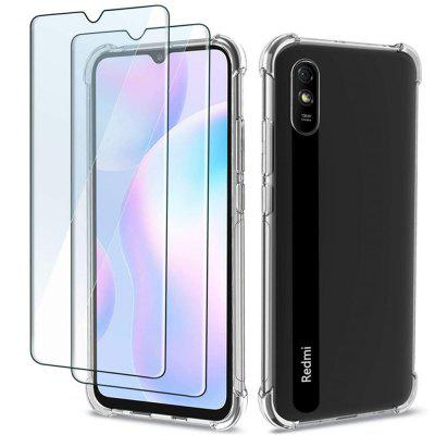 TPU Shockproof Phone Case + Tempered Glass Protector For Xiaomi Redmi 9A, Gearbest  - buy with discount
